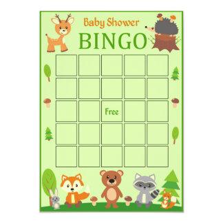 Tarjeta animal del bingo de la fiesta de