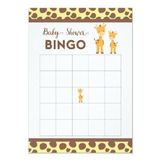 Tarjeta animal del bingo de la fiesta de invitación 12,7 x 17,8 cm