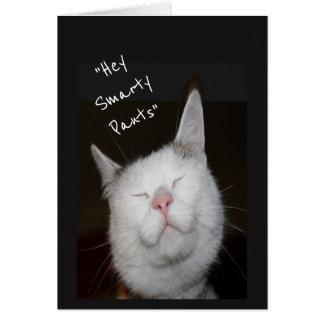 Tarjeta Animal del gatito del humor de la promoción de la