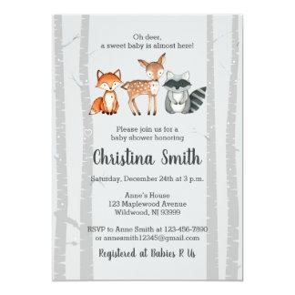 Tarjeta Animales de la Invitación-Acuarela de la fiesta de