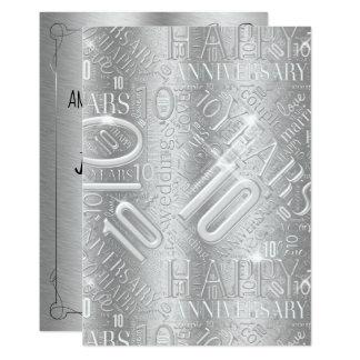 Tarjeta Aniversario 10 años de nube ID267 de la palabra