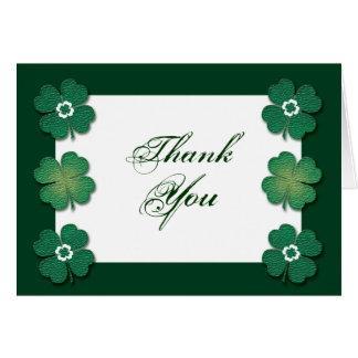 Tarjeta Aniversario de boda irlandés blanco verde