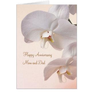 Tarjeta Aniversario de boda poner crema blanco de las