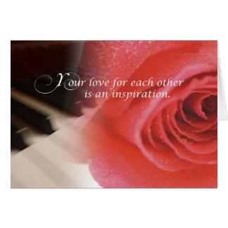 Tarjeta Aniversario de boda, subió en piano