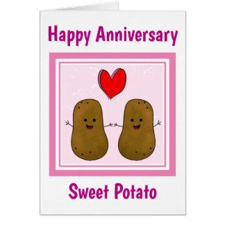 Tarjeta Aniversario de la patata