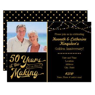 Tarjeta Aniversario de oro, 50 años en la fabricación