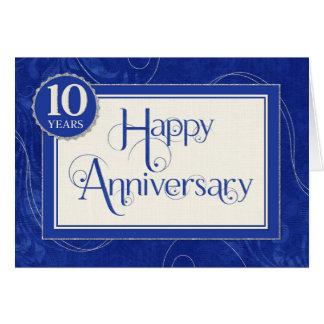 Tarjeta Aniversario del empleado 10 años - el texto