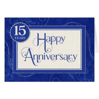 Tarjeta Aniversario del empleado 15 años - el texto