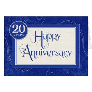 Tarjeta Aniversario del empleado 20 años - el texto