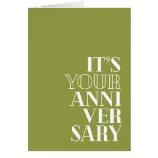 """Tarjeta Aniversario divertido, """"enhorabuena?"""" tipo del"""