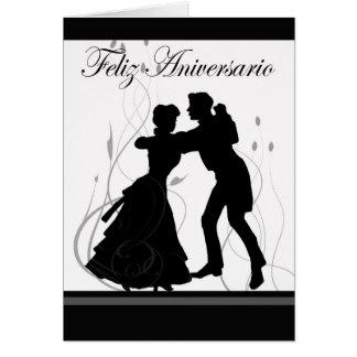 Tarjeta Aniversario-Español feliz