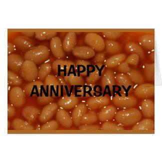 Tarjeta ¡Aniversario feliz a mis habas humanas preferidas!