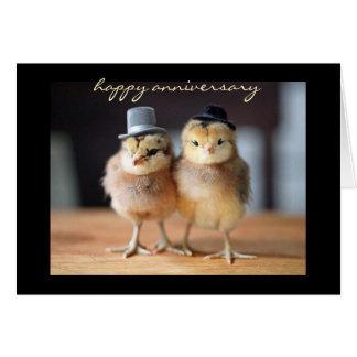 Tarjeta Aniversario feliz muy a un par (tarjeta de