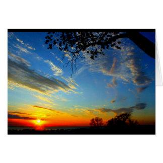 Tarjeta Aniversario hermoso de la salida del sol a la