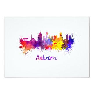 Tarjeta Ankara skyline in watercolor