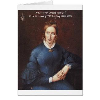 Tarjeta Annette von Droste-Hulshoff 1838