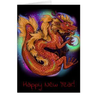 Tarjeta Año chino del zodiaco del dragón