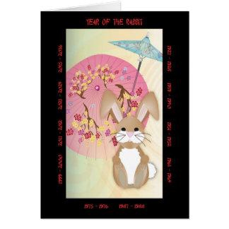 Tarjeta Año del conejo