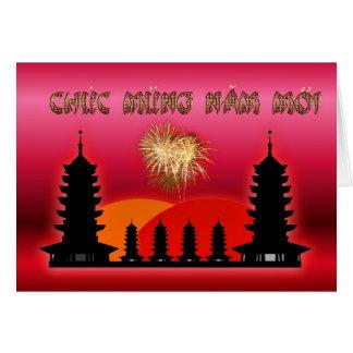 Tarjeta Año lunar vietnamita del Año Nuevo del Moi de Chuc