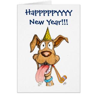 Tarjeta Año Nuevo: Perro (auge del auge)