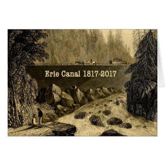 Tarjeta Años bicentenarios del canal Erie histórico