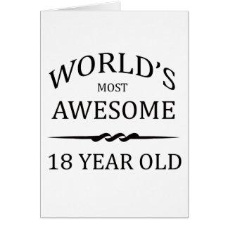 Tarjeta Años más impresionantes del mundo los 18