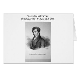 Tarjeta Anselm Huttenbrenner 1837