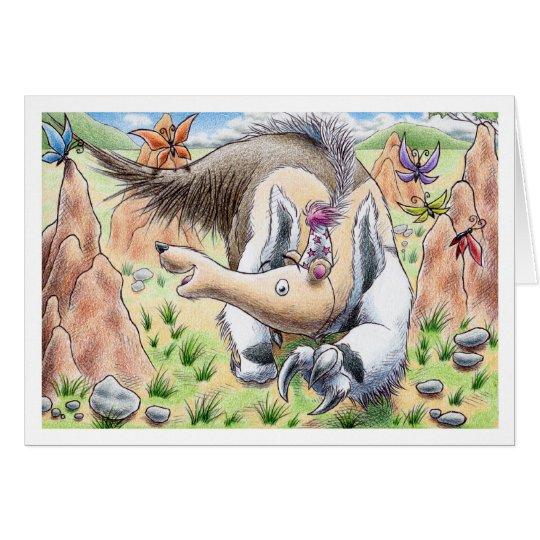 Tarjeta Anteater del cumpleaños