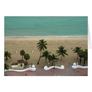 Tarjeta Antena de la playa del Fort Lauderdale