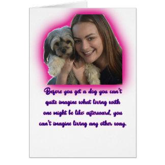 Tarjeta Antes de que usted consiga un perro