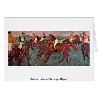 Tarjeta Antes del comienzo de Edgar Degas