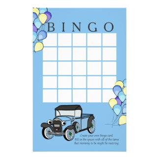 Tarjeta antigua del camión y del bingo de los