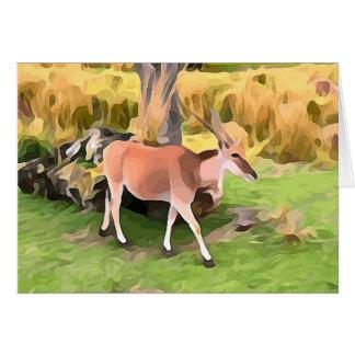 Tarjeta Antílope de Eland del safari