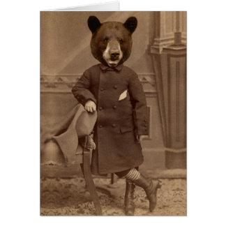 Tarjeta antropomorfa de la disculpa del oso