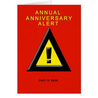Tarjeta anual de la alarma del aniversario