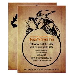 Tarjeta Apariencia vintage de la fiesta del té de las