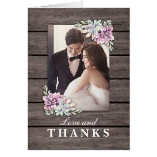 Tarjeta Apenas el boda suculento rústico casado del | le