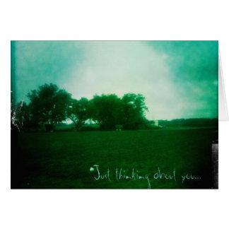 Tarjeta Apenas pensando en usted…