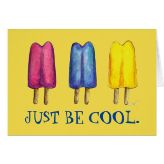 Tarjeta Apenas sea polo de hielo fresco del Popsicle del