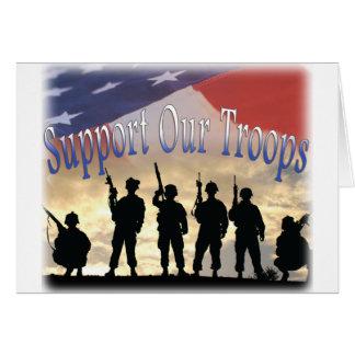 Tarjeta Apoye a nuestros soldados de las tropas