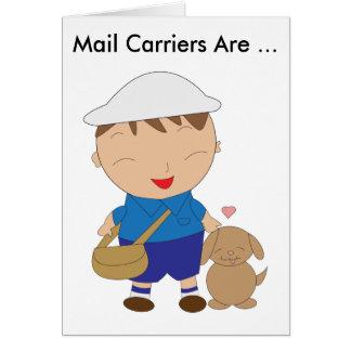 Tarjeta Aprecio del empleado de correos del cartero