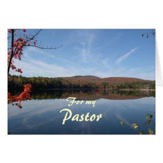 Tarjeta Aprecio del pastor de la caída del lago y de las