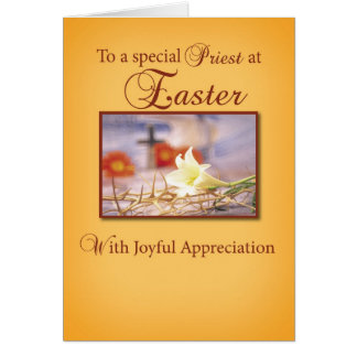 Tarjeta Aprecio del sacerdote de Pascua