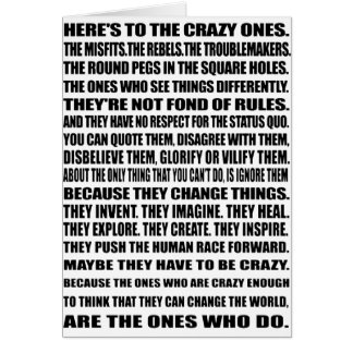 Tarjeta ¡Aquí está los locos!