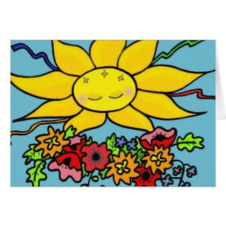 Tarjeta Aquí viene el arte popular ucraniano de Sun