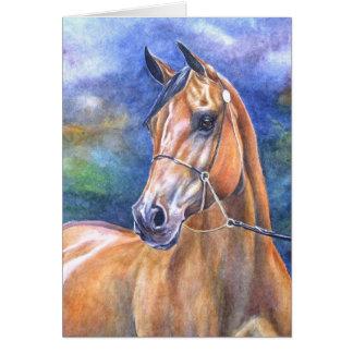 Tarjeta árabe del caballo