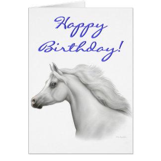 Tarjeta árabe del caballo del feliz cumpleaños