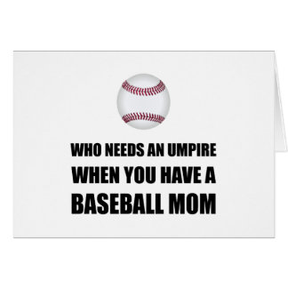 Tarjeta Arbitre cuando mamá del béisbol