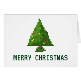 Tarjeta árbol de 8 bits del día de fiesta del navidad del