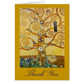 Tarjeta Árbol de la vida por Klimt